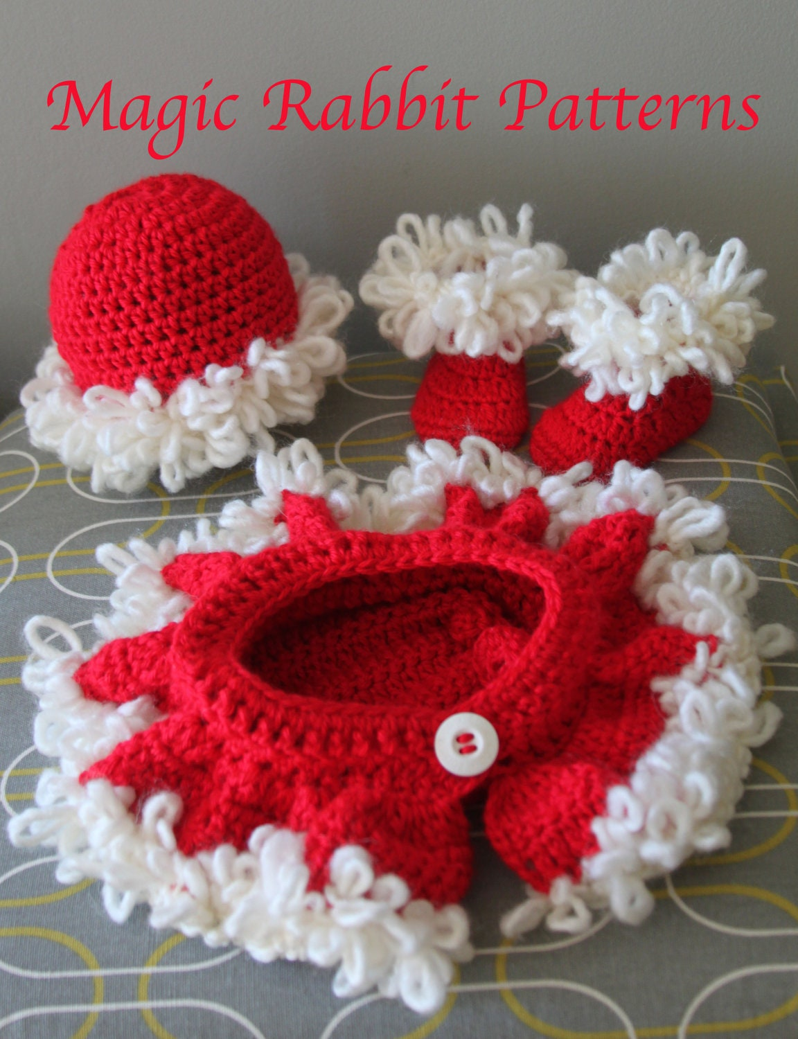 Crochet Fox Hat and Diaper cover PDF by MagicRabbitPatterns