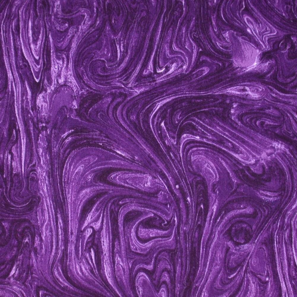 Nancy Crow Purple Marble Cotton Print Fabric By Cutemonkey
