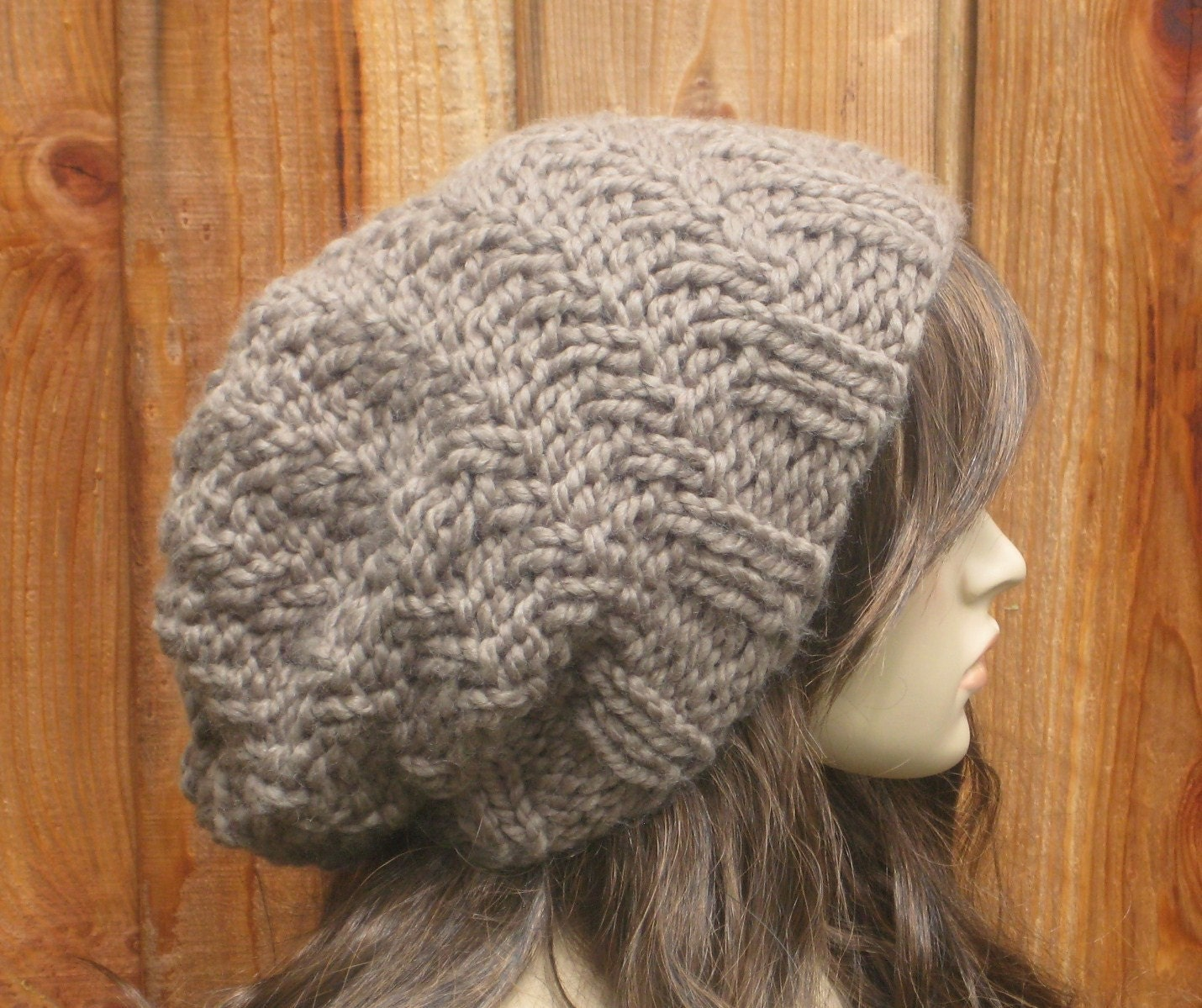 Oversized Swirl Beanie KNITTING PATTERN by JKnitsBoutique on Etsy
