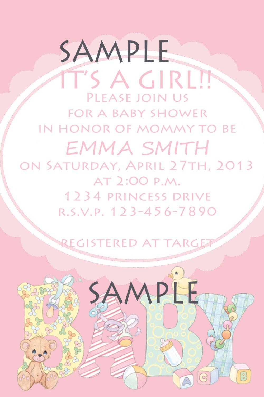 items similar to precious moments girl invitation baby shower on etsy