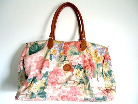 VTG.FLORAL Large Weekender/Tote Duffel Bag