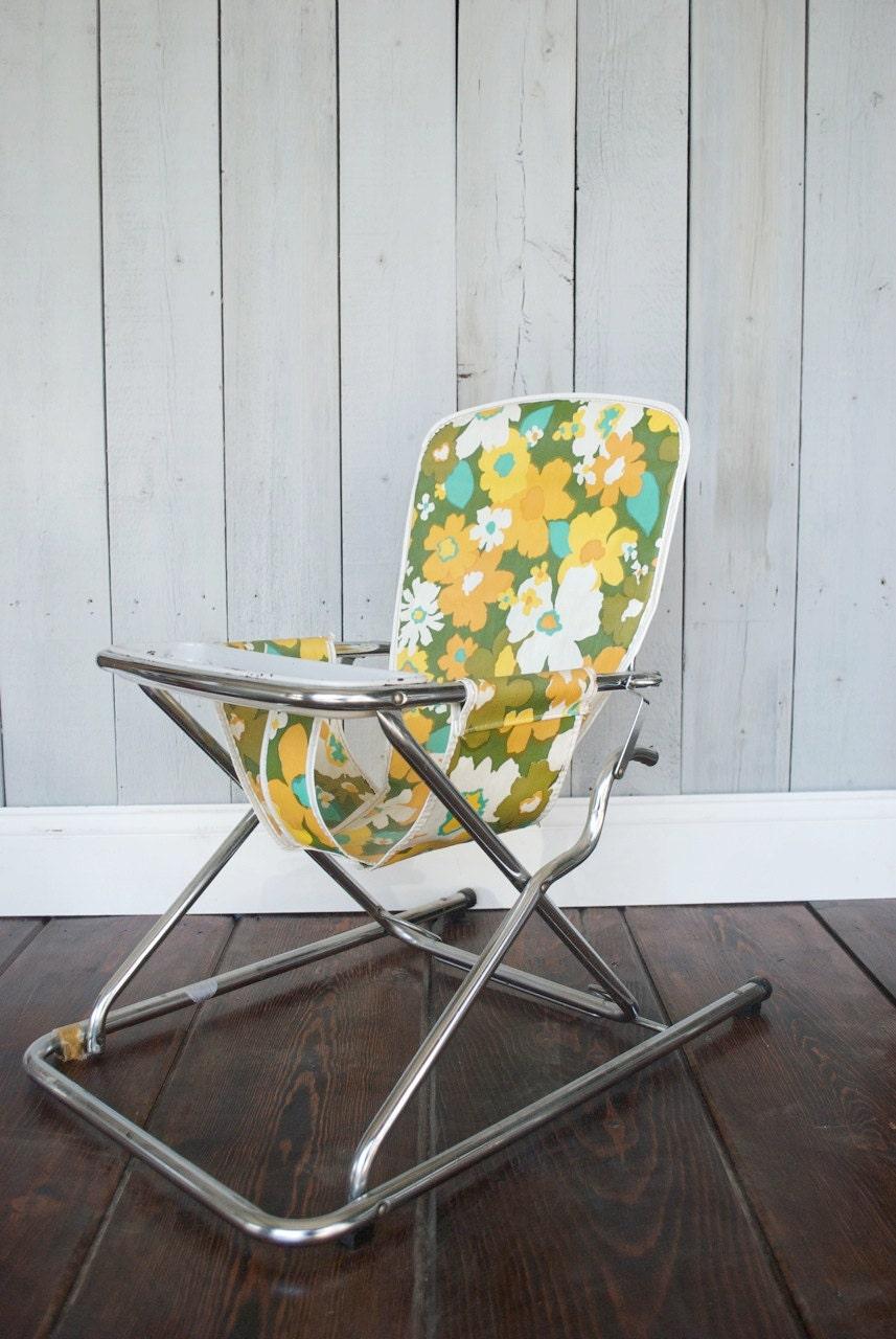 sale   vintage child u0026 39 s lawn chair    groovy 1970 u0026 39 s by mollyannemake