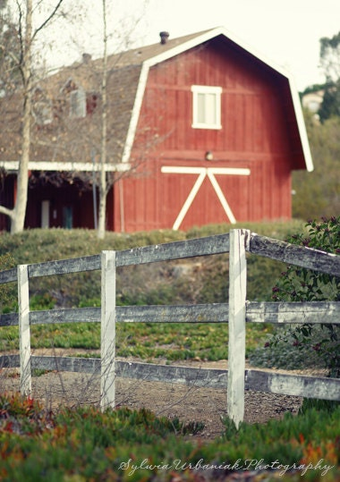 Red Barn Wall Decor : Landscape photography red barn rustic by seeworldthrumyeyes