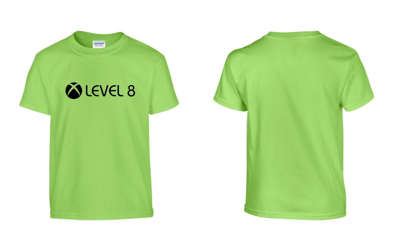 X BOX Level 8 Childrens Kids TShirt 100 Cotton NEW