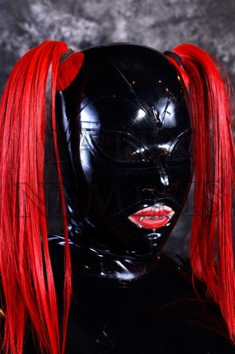 items similar to latex hood rubber mask vinyl see