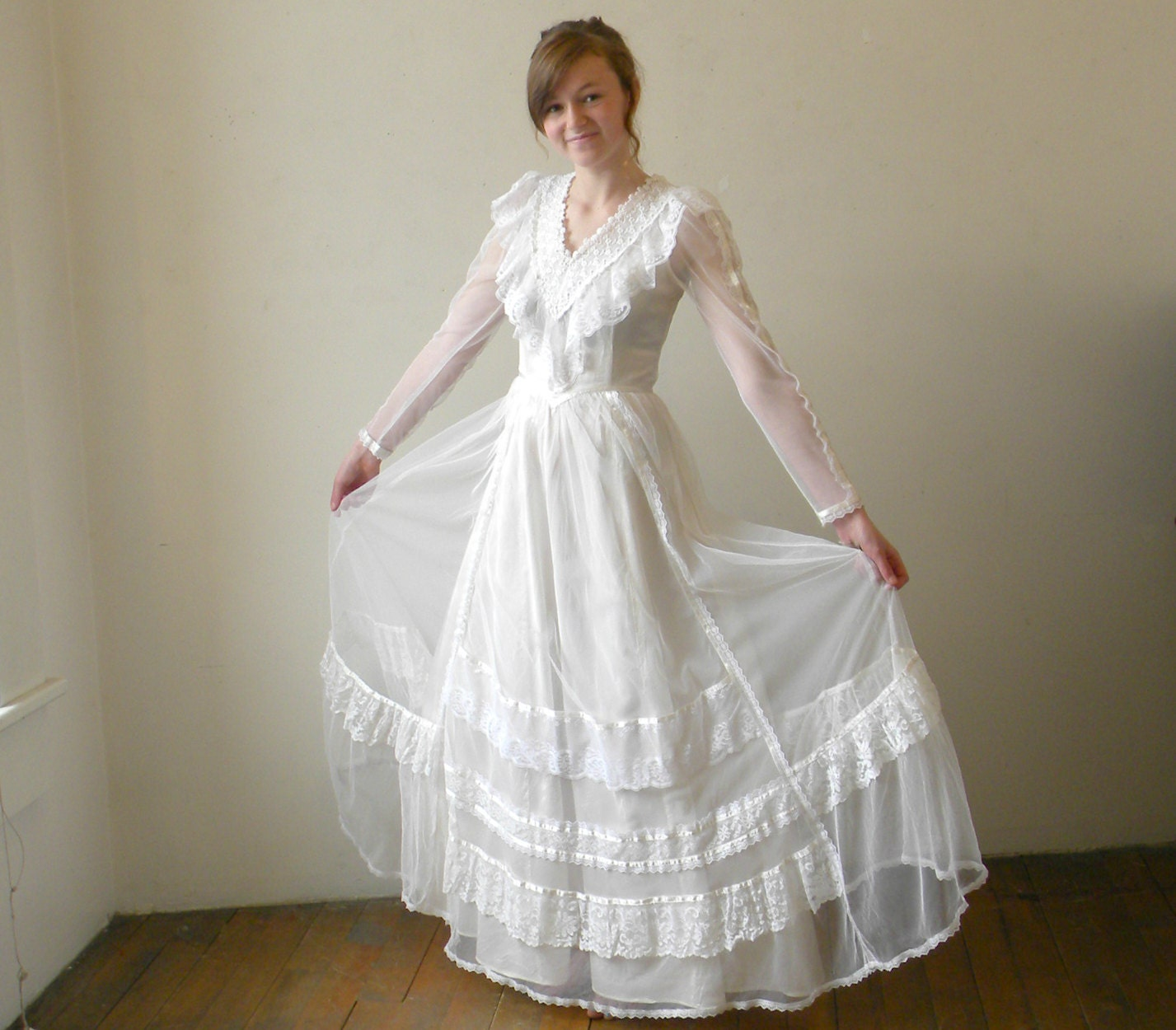 Vintage Gunne Sax Wedding Dress Bridal by ChronologieVintage