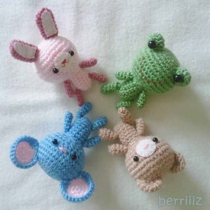 Free Crochet Patterns On Etsy : PDF Crochet Pattern Tiny animals by berriiiz on Etsy