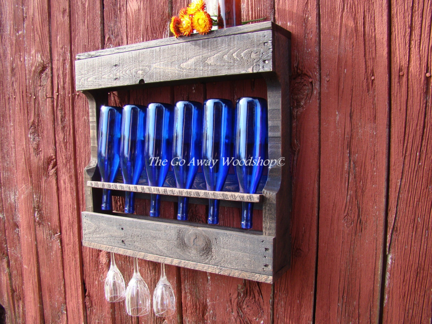 Recycled wine rack SMALL, pallet repurposed rustic