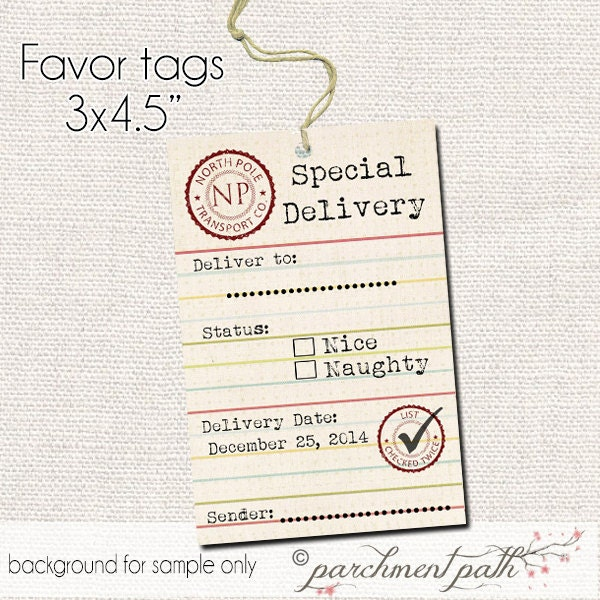 Gift tags from santa template trattorialeondoro gift tags from santa template negle Choice Image