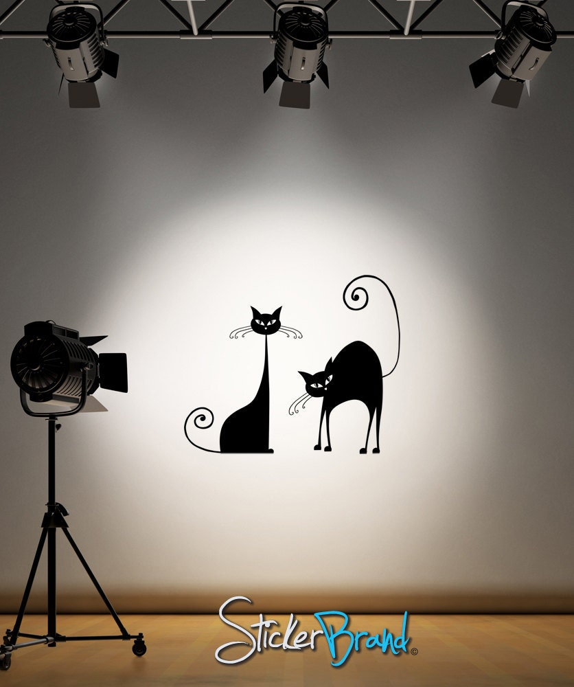 Vinyl Wall Decal Sticker Classic Cats item OSAA101 - Stickerbrand