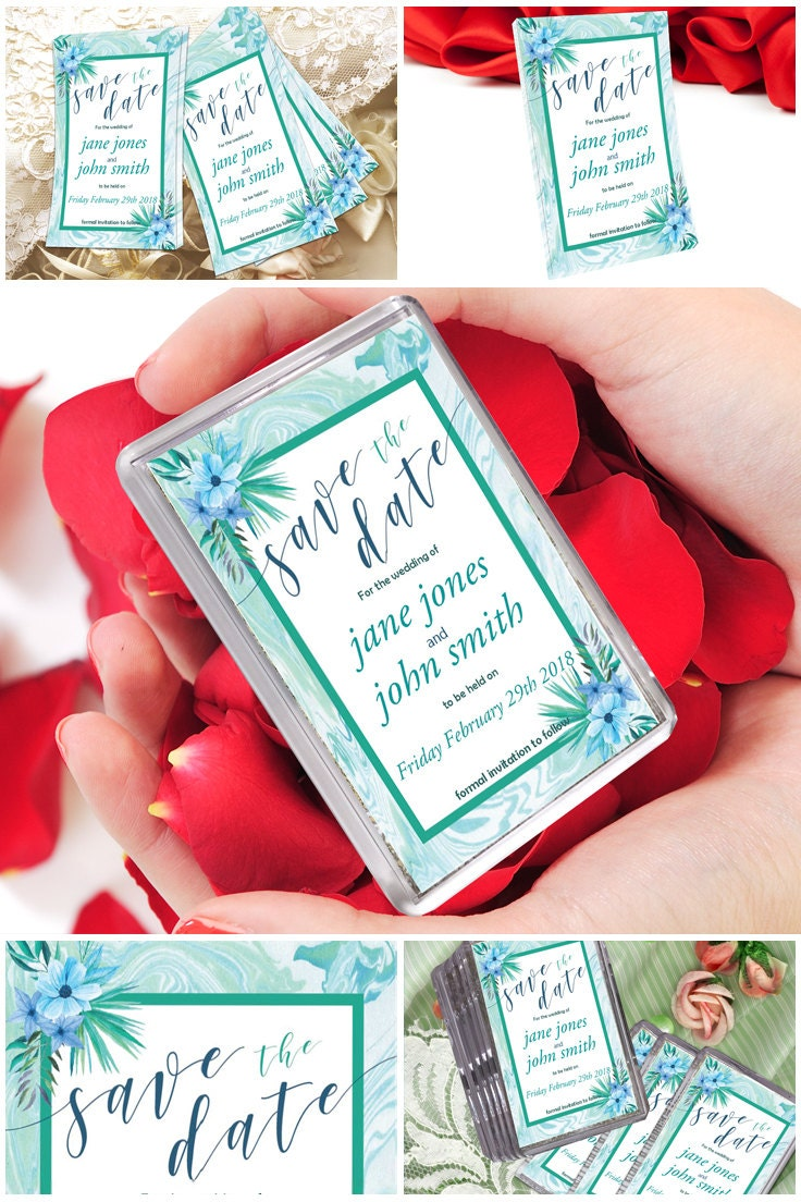 Boho Mint Marble Save The Dates Fridge Magnets Save The Date Invite Boho Save The Date Magnets Boho Wedding Magnets Save The Date Ideas