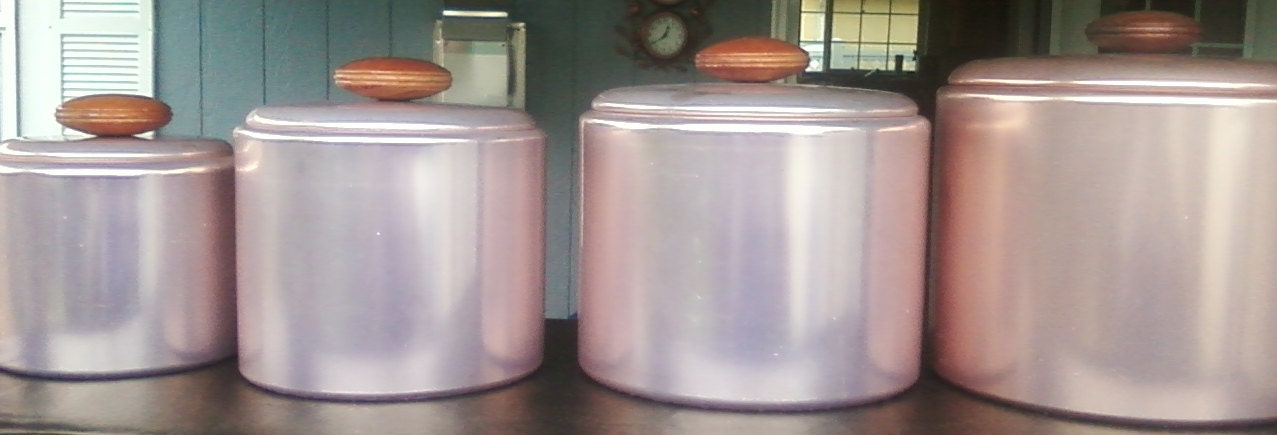 1950's Canister Set   PRODUCT OF USA
