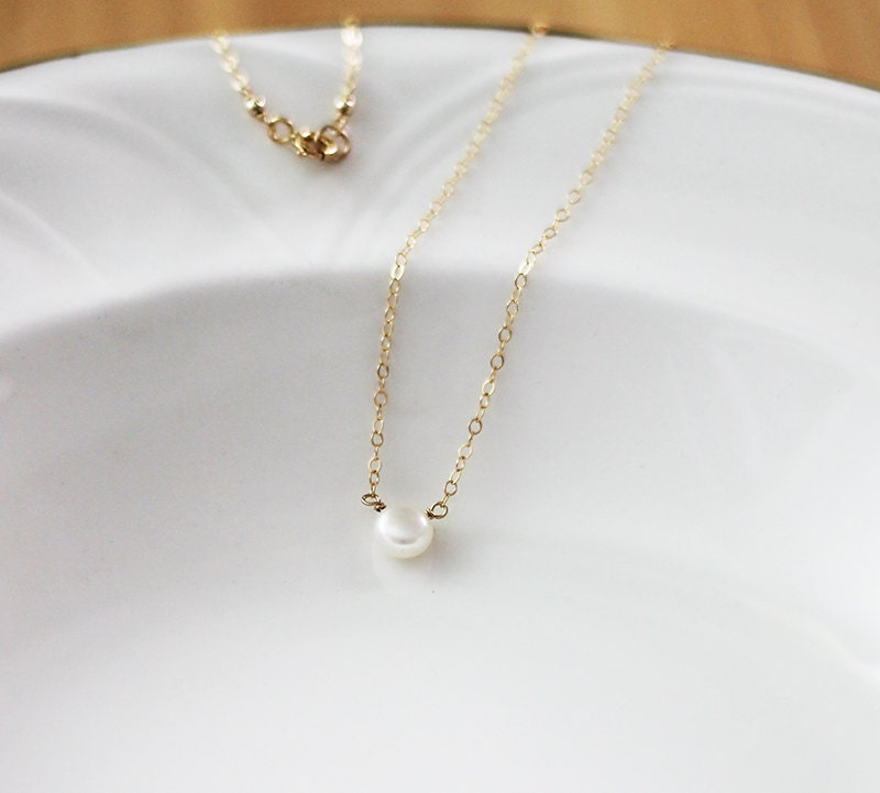 Single Pearl Necklace ...