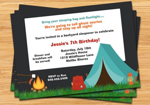Camping Birthday Party Invitations is one of our best ideas you might choose for invitation design
