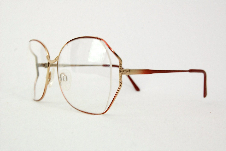 Wire Frame Glasses Trend : Items similar to Vintage 80s oversized eyeglasses ...