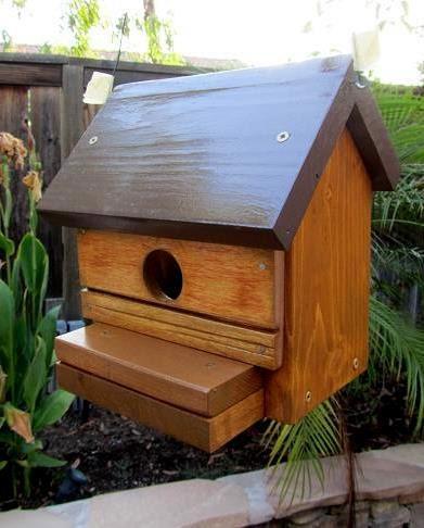 Rustic Cabin Bird House