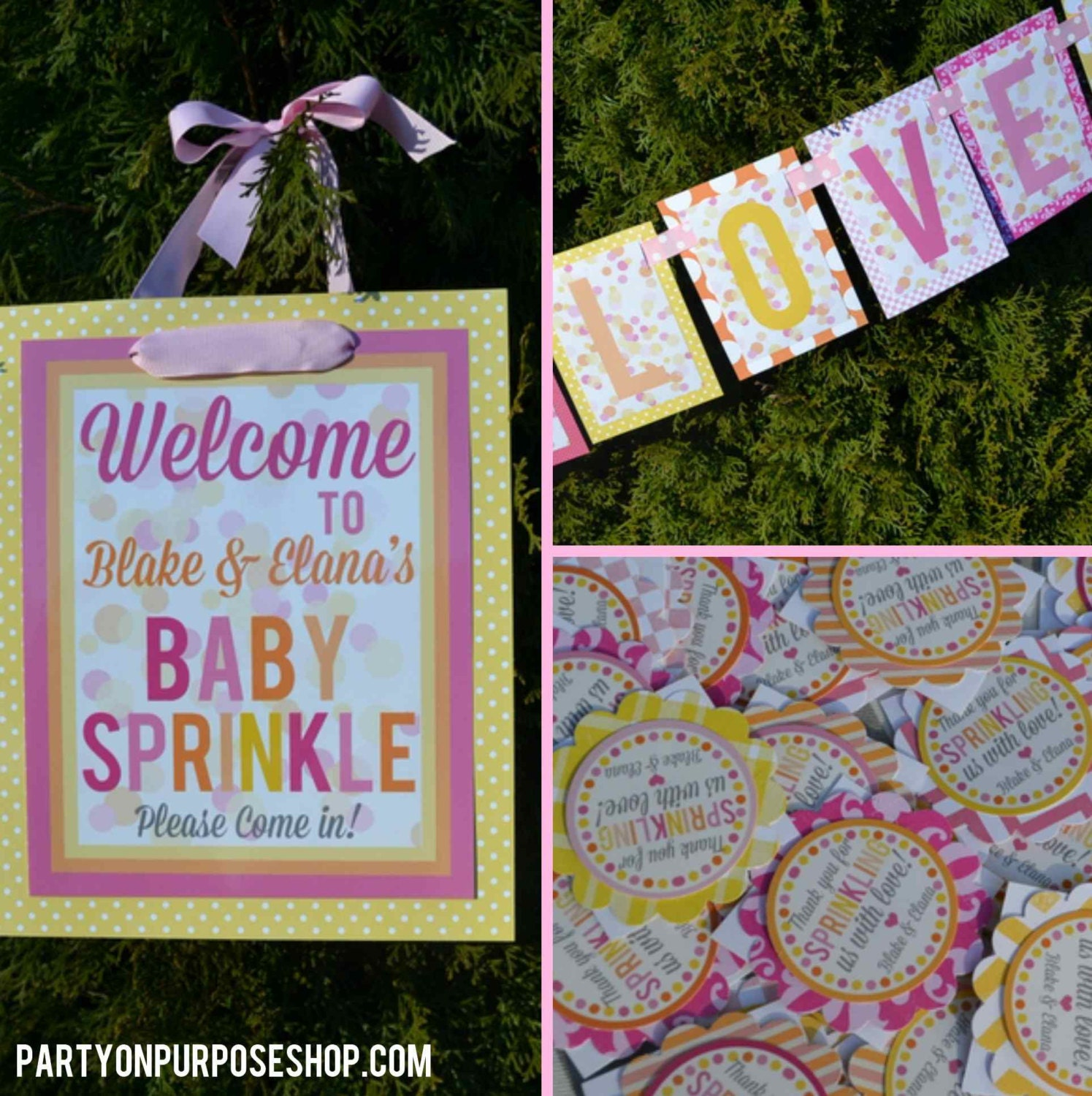 sprinkle baby shower decorations package