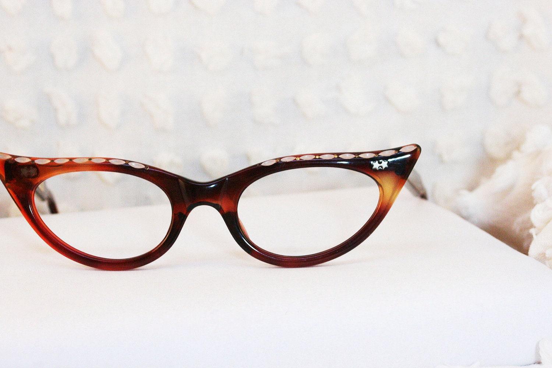 chantilly cat eye 1950 s tortoise eyeglasses by