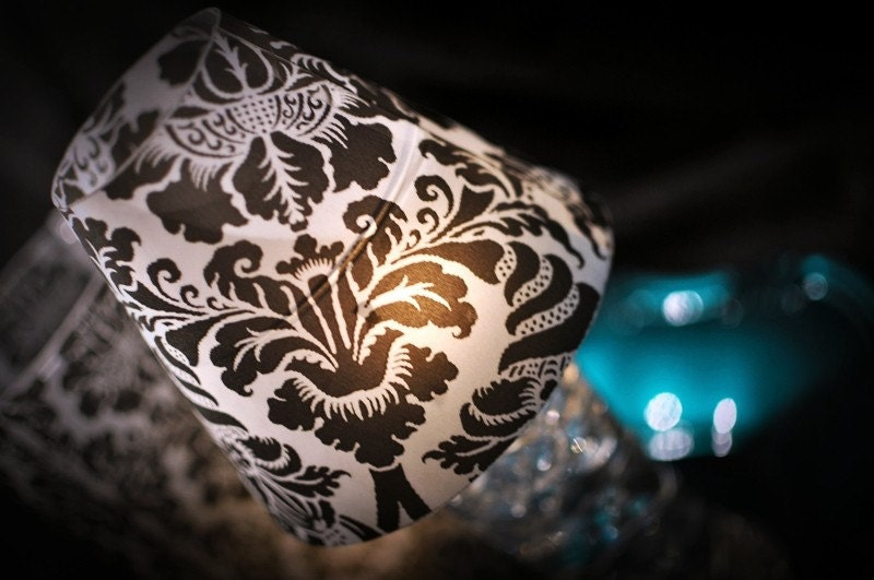 Regal Damask Wine Glass Shades Lamp From DamaskDiva