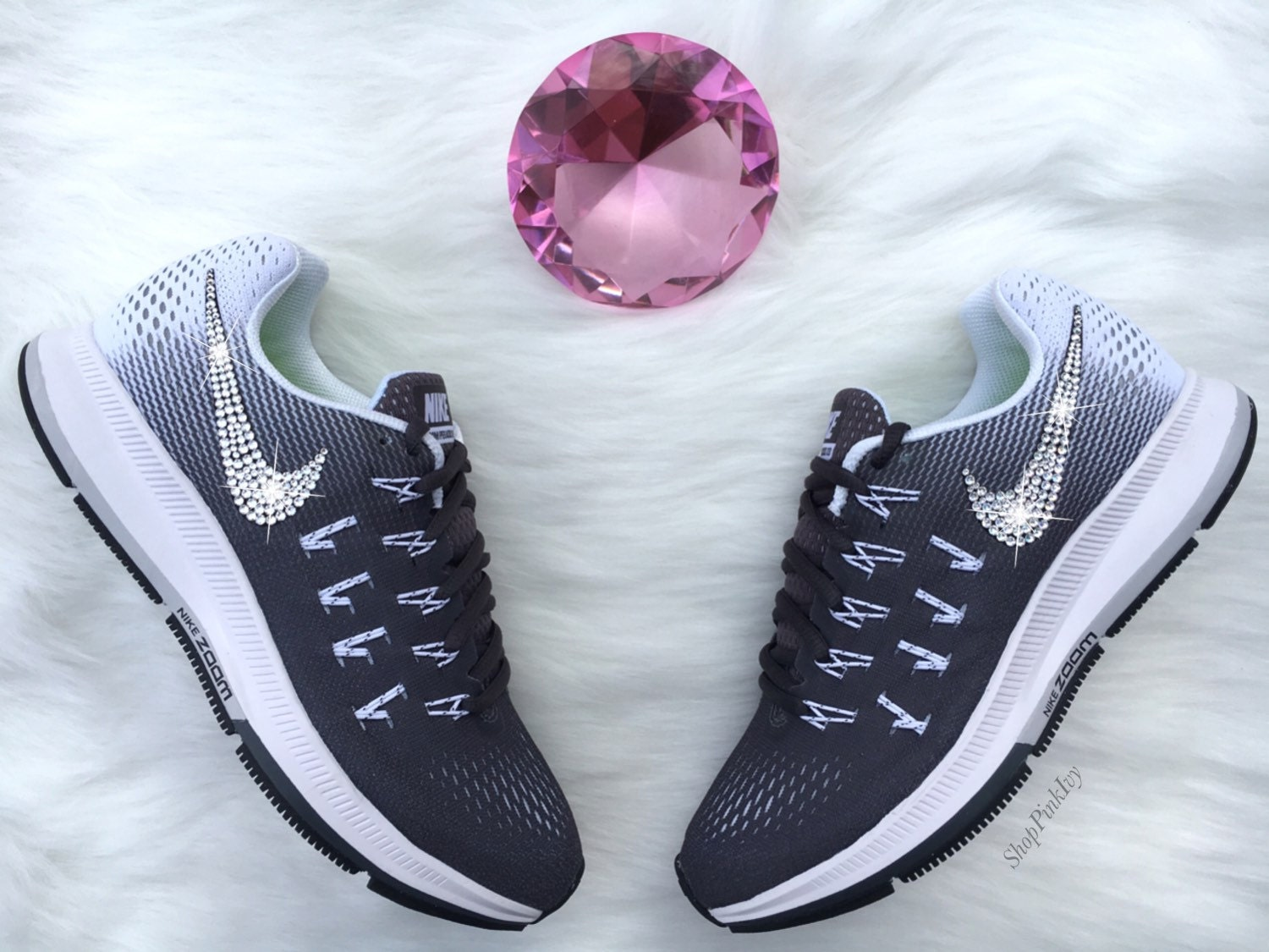 60%OFF 2016 Swarovski Nike Air Zoom Pegasus 33 Customized by ShopPinkIvy 015d3f4e5e
