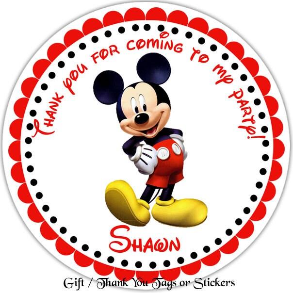 Etiquetas do Mickey para imprimir - Imagui