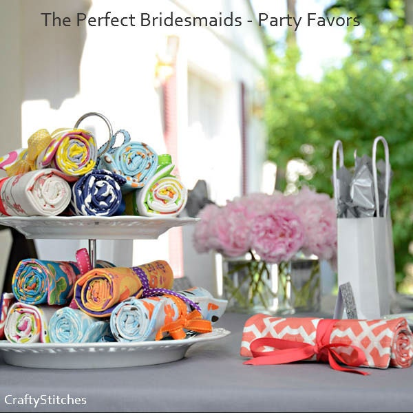 Bridal Gift: Set of 5 The Perfect Bridesmaids (R) Travel Jewelry Roll w/Free Shipping