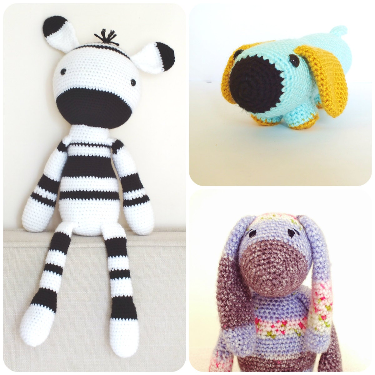 Amigurumi Yarn Pack : Crochet Amigurumi PATTERNS Pack Special Offer by KornflakeStew