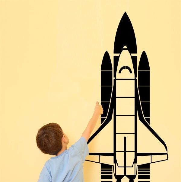 NASA Columbia Space Shuttle Vinyl Wall Art Decal by IDgrams