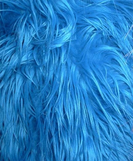 Turquoise Shaggy Mongolian Faux Fur By Everafterfabrics On