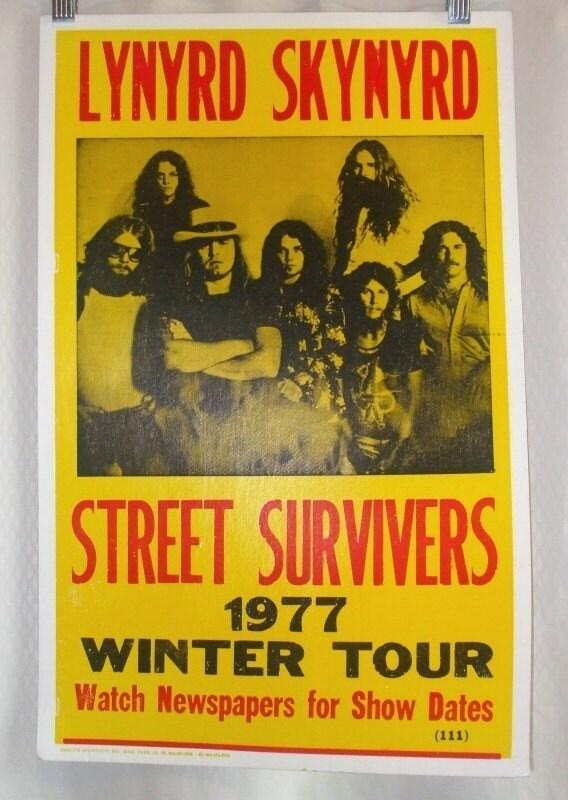 items similar to original vintage 1977 lynyrd skynyrd sign