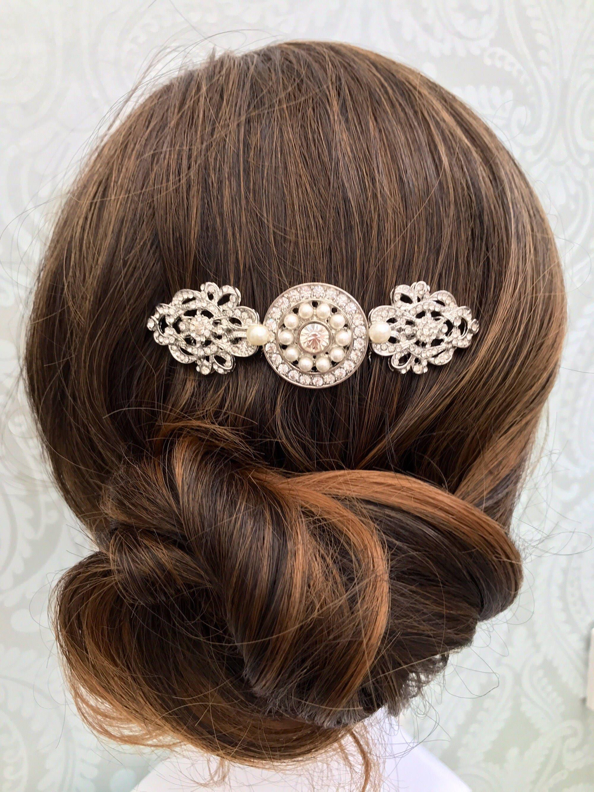 Art Deco hair comb  Bridal hair comb  Vintage wedding  Hair accessory  1920s dress