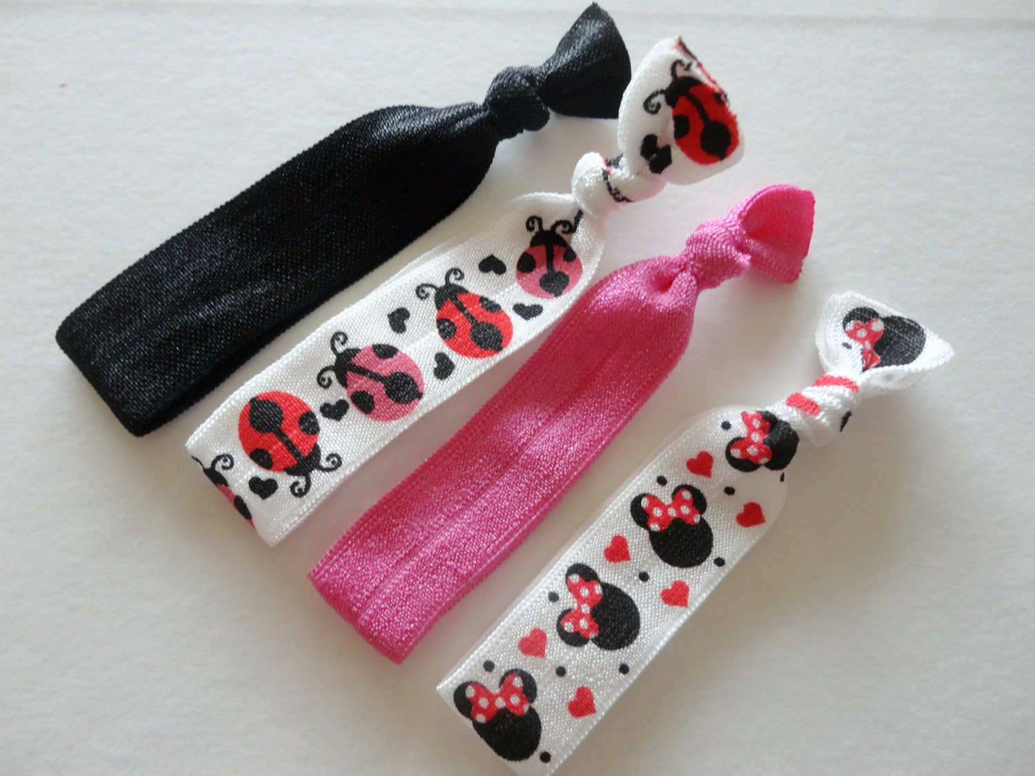Hair ties, elastic no crease hair item, 4 for 5 Dollars, Must have hair accessory, No pull hair ties, fashion bracelets