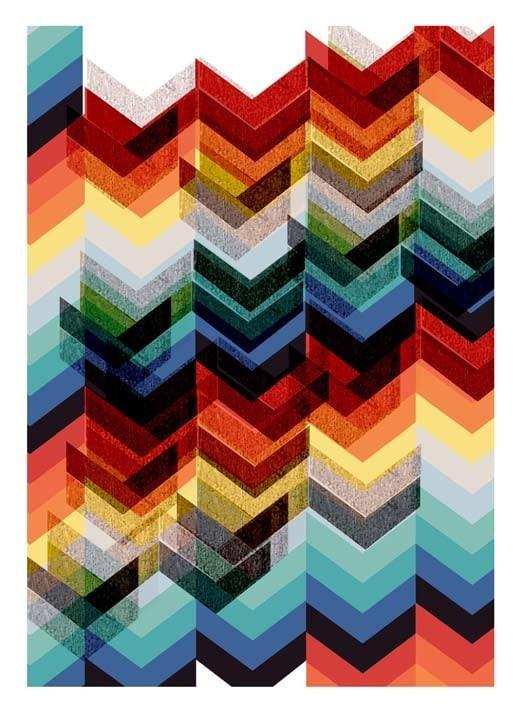Chevron Multicolour - large print