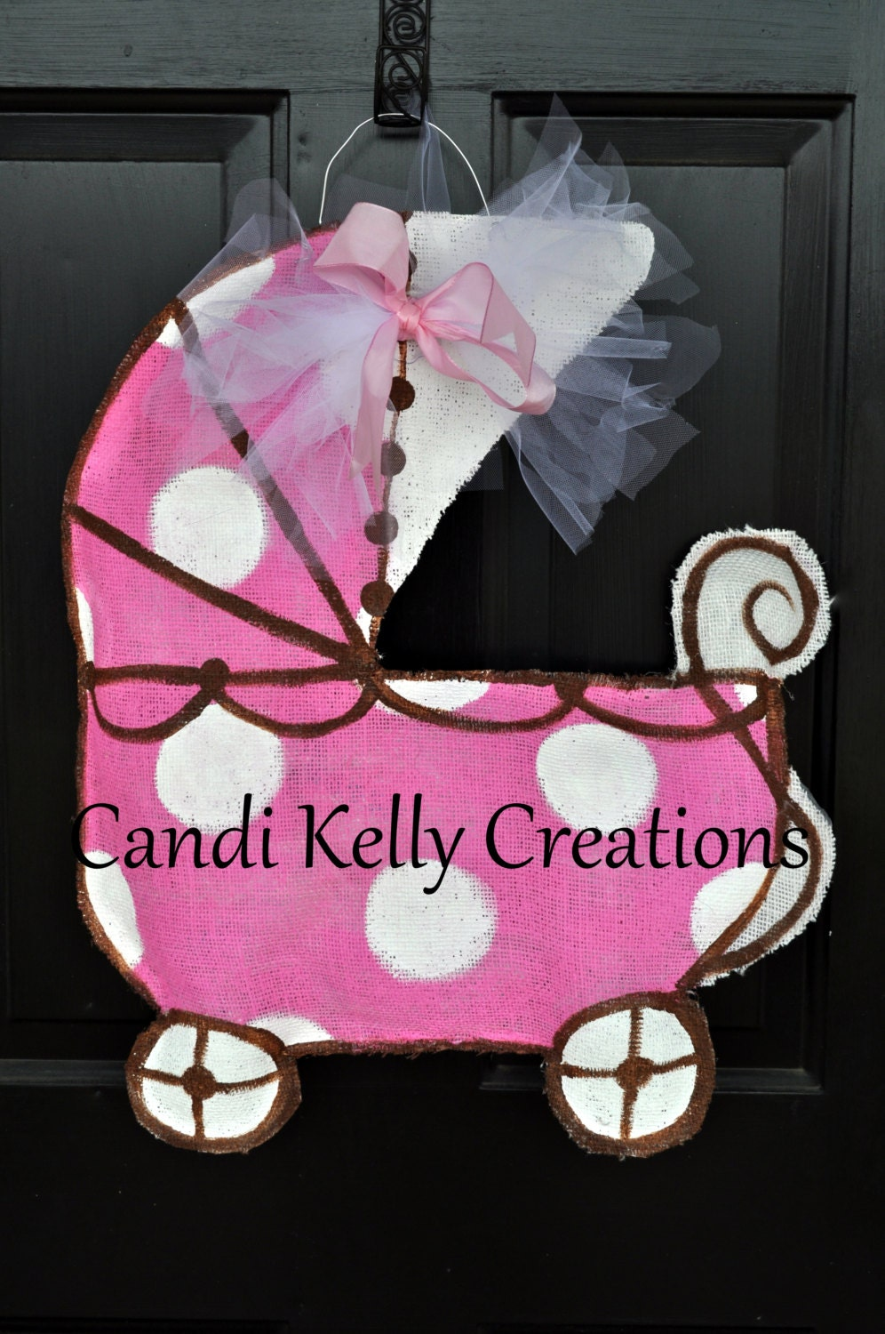 Baby Carriage Burlap Door Hanger By Candissweetcreations On Etsy