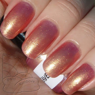 Metallic Gold Nail Polish: Heaven Nail Polish Rose Gold Metallic Shimmer By