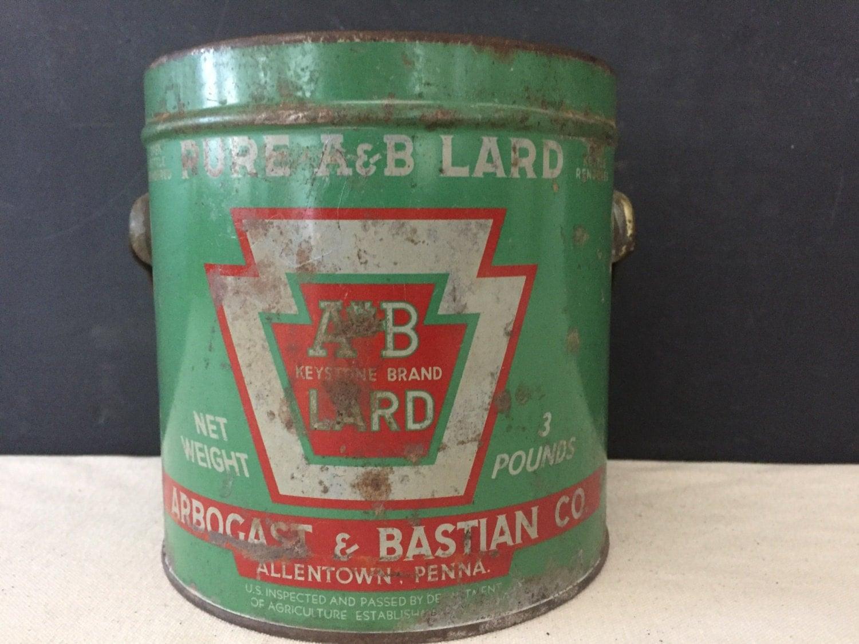 Bucket of lard