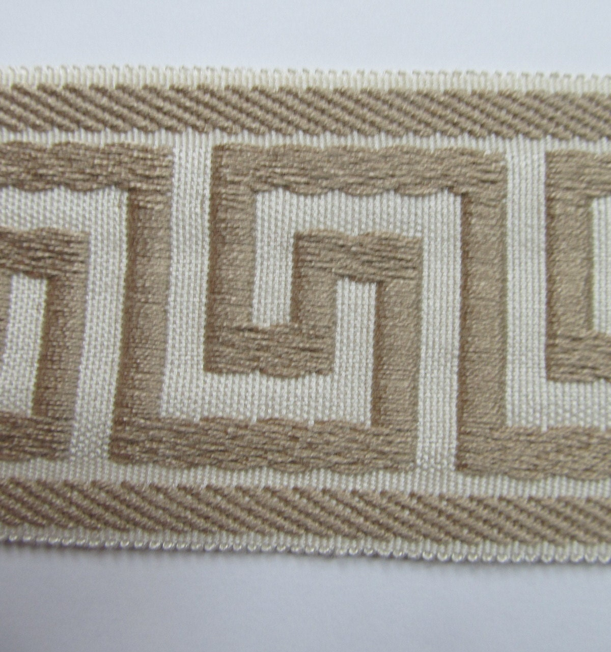 Items Similar To Greek Key Flat Trim For Your Drapes Pillows Ivory And Beige Inches Wide On