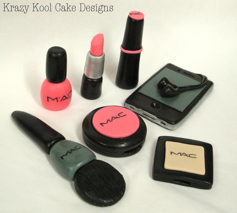 Edible Mac Makeup Cake Toppers