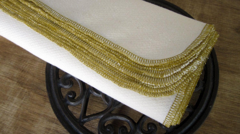 Organic Reusable Unpaper Eco Friendly Towels with Brass Edges-- Organic Birdseye Unbleached Cotton  -- Set of 24 - NaturalLinens