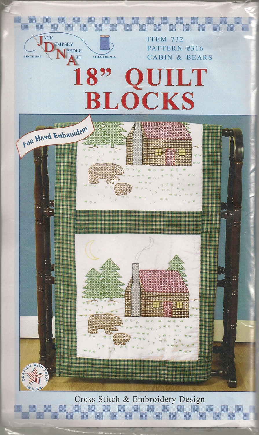 Items Similar To Stamped White Cross Stitch Quilt Blocks