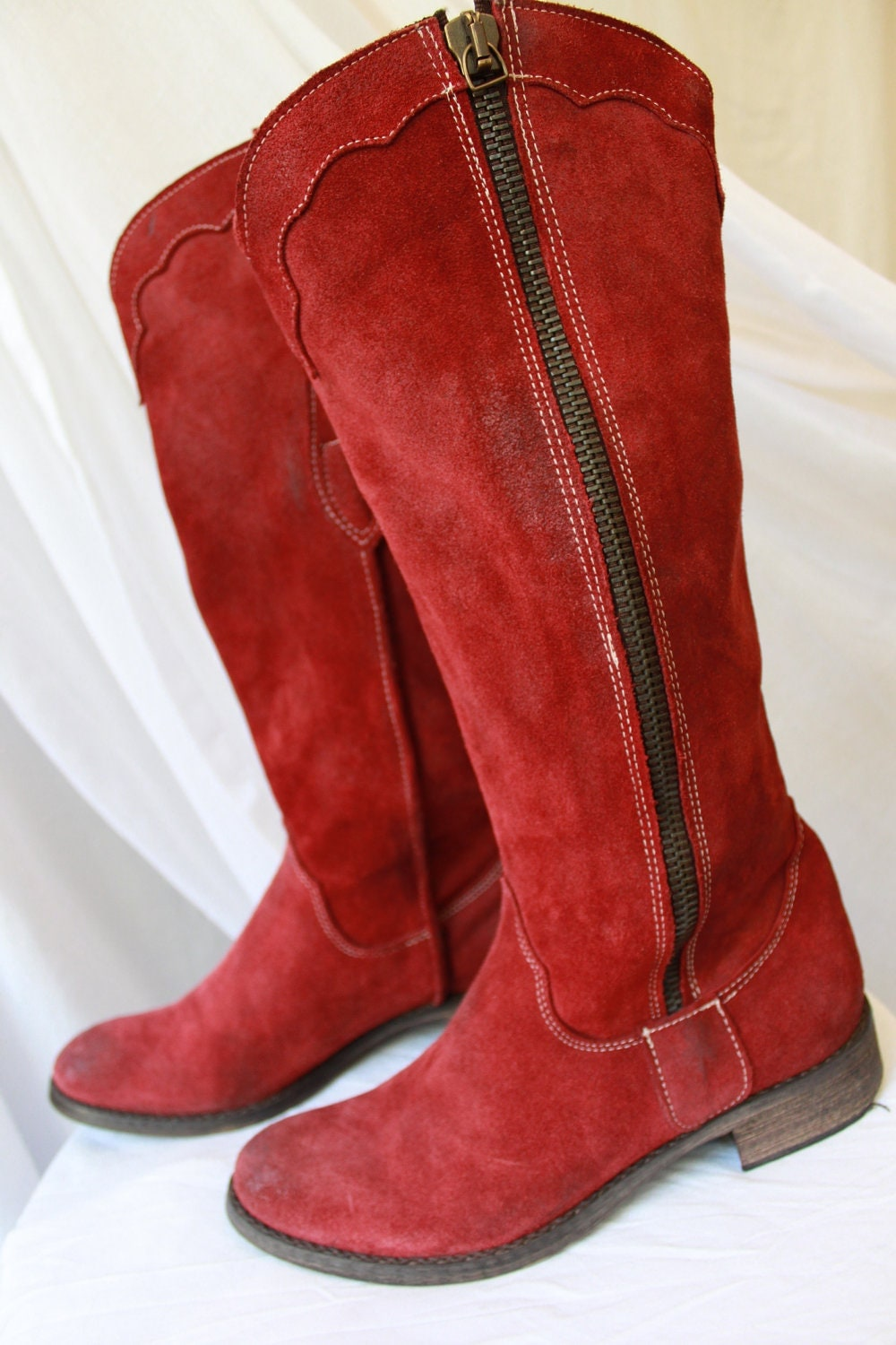Awesome WOMENS TUK SHOES RED ANARCHIC LEATHER 7-EYE LACE UP CHUNKY ANKLE BOOTS SIZE 3-8 | EBay