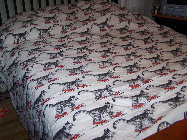 Kliban Cat Bedspread Comforter Sneaker Cat B Kliban