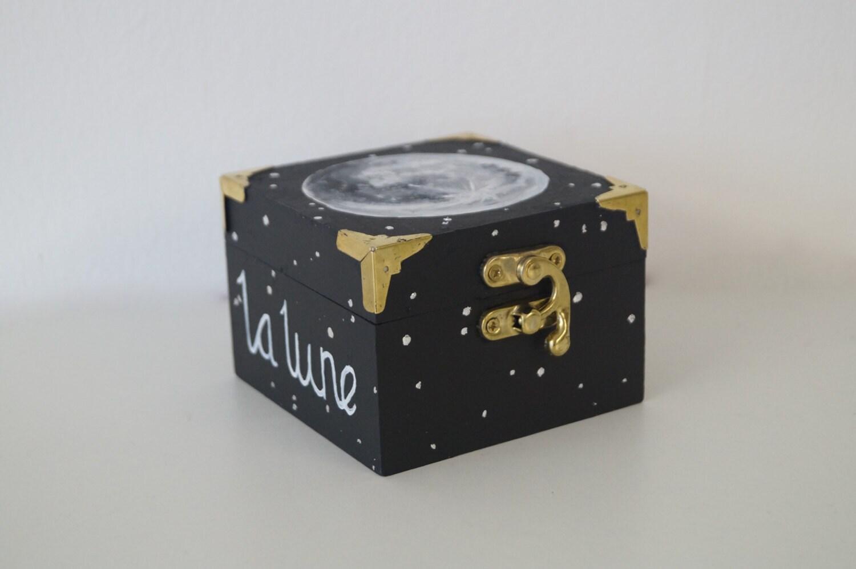 La Lune Moon Box Trinket Box Moon and Star Ring Box Cosmos Box Rocket Man Star Boxes La Lune Art Studio Art and Craft Moon