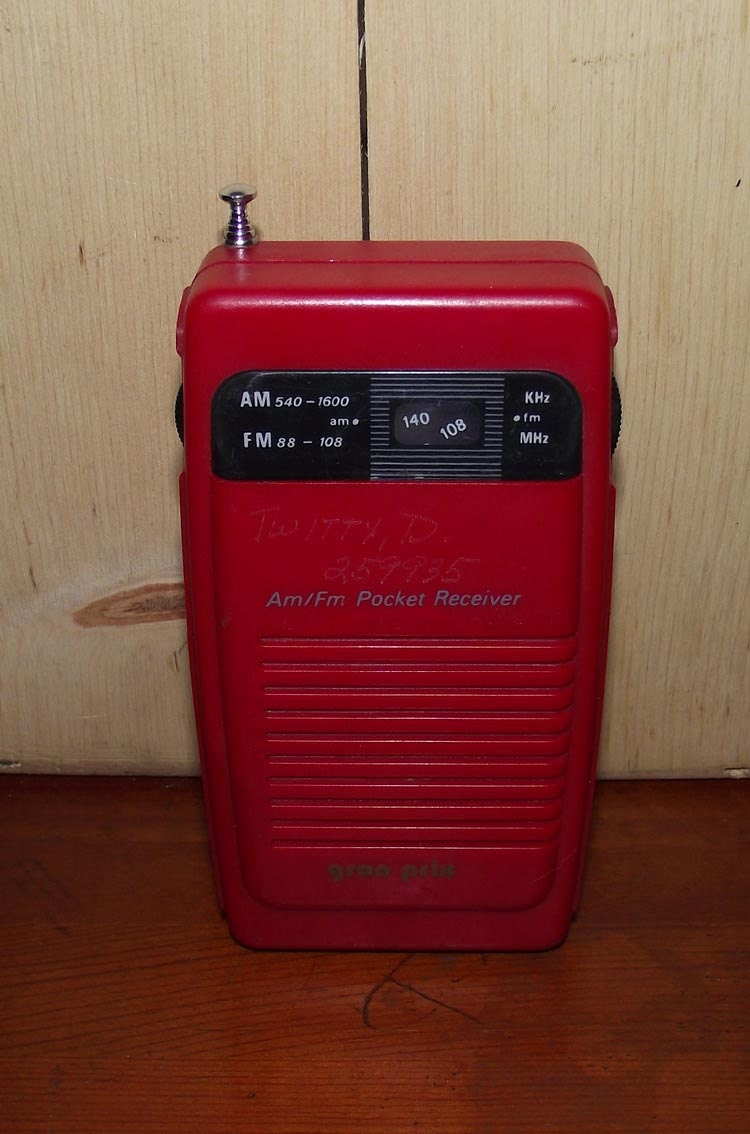 Red AM FM Gran Prix Pocket Radio