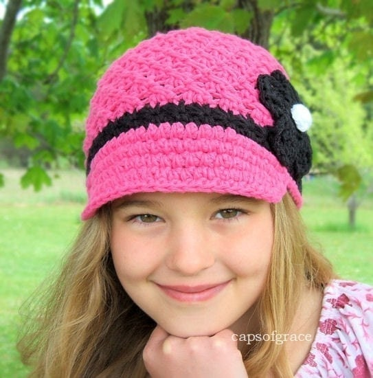 Crochet Pattern Hat Girl : Crochet Hat Pattern Girl Crochet Hat Daisy by ...