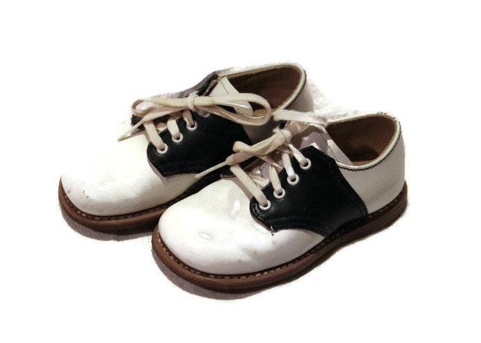 Vintage Leather Saddle Shoes Toddler Girls