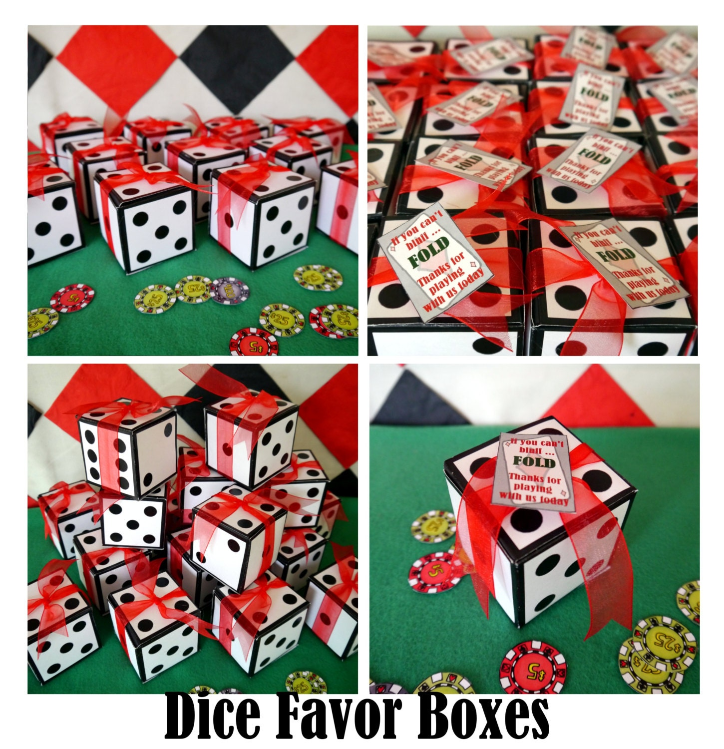 Dice Favor Box Or Invitation Box Perfect For A By