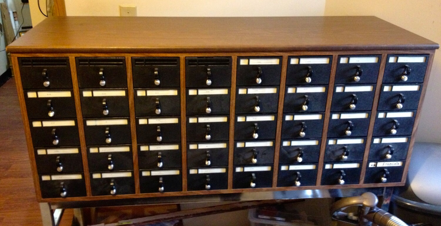 Vintage Library Card Catalog - Priced to Move - jacqui108