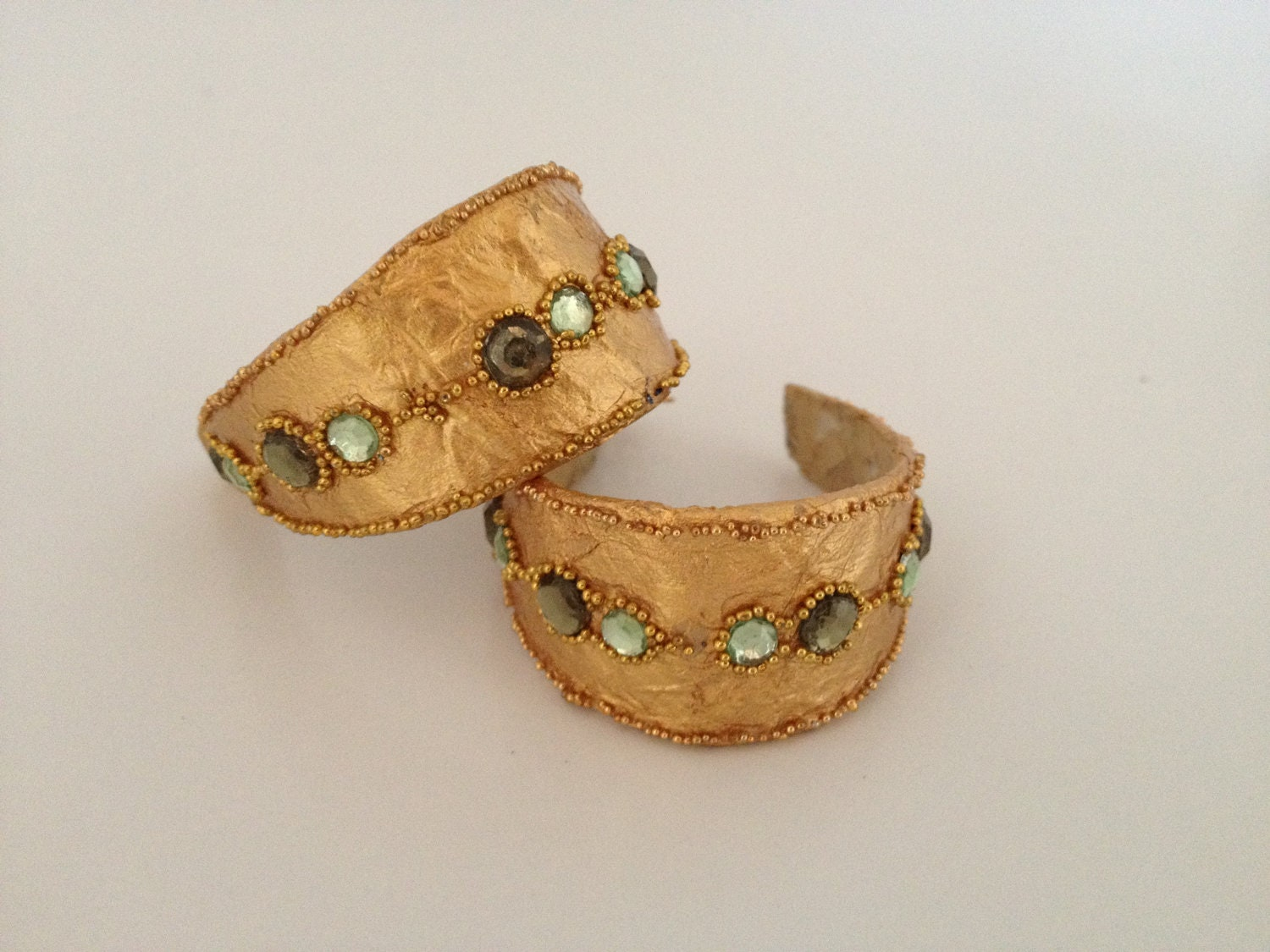 Items similar to paper mache earrings a unique jewelry for How to make paper mache jewelry
