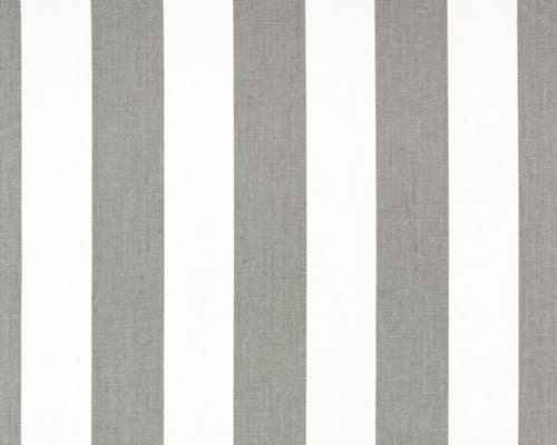 Custom Storm Gray and White Canopy Stripe Shower by HomeLush